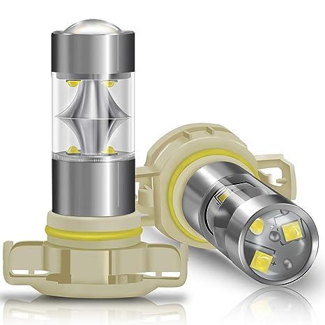 DZG - H16 / PSX24W / 5202 Bombillas LED para luces antiniebla universales - CDRL de
