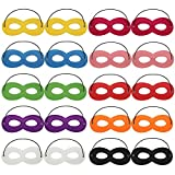 Dreamtop 20X Superhero Masks Eye Masks with Elastic Rope for Party Cosplay, 10 Colors