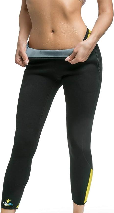 Pantaloni lunghi vita alta leggins leggings Donna aderenti effetto dimagrante SL