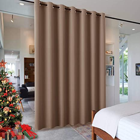 ryb home room divider blackout curtains for patio door portable sliding glass door drapes sunlight uv proof noise reducing for bedroom living