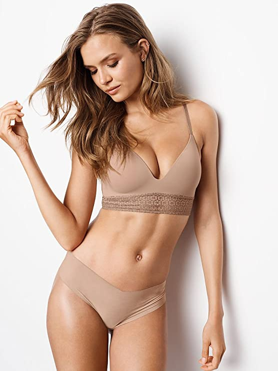9619d9af36b9 Victoria's Secret Sexy Illusions No Show Cheeky Panty Small Nude at Amazon  Women's Clothing store: