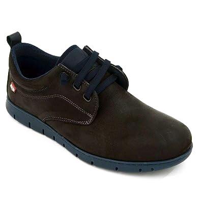 Zapato Hombre Elásticos Piel Negro es Amazon Foot On Zapatos 8551 wgqwaH