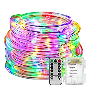 led rope lights battery operated with remote. Black Bedroom Furniture Sets. Home Design Ideas