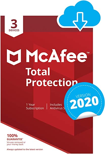 McAfee Total Protection 2019 1 PC 3 Years Antivirus Internet Security 2018 US