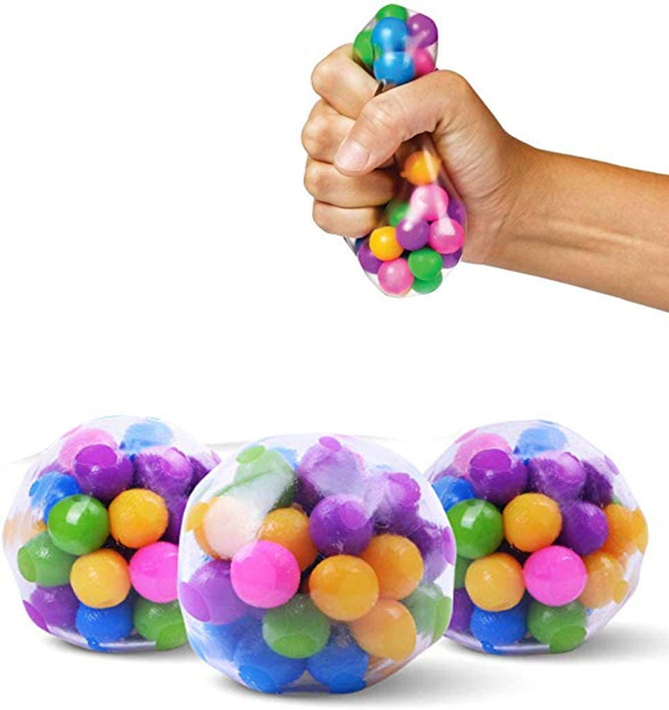 JAOCDOEN Kids Doll 3 Pcs//Set Stress Relief Balls Toys Squeezing Balls for Stress-Relief and Better Focus Toy for Kids and Adults
