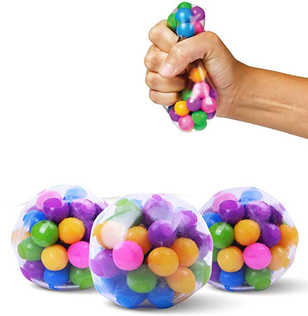 LAOZZI 3 Pcs/Set Stress Relief Balls Toys Squeezing Balls, Soybean Squeeze, for Stress-Relief and Better Focus Toy (Sensory Toys for for Autism & ADHD)