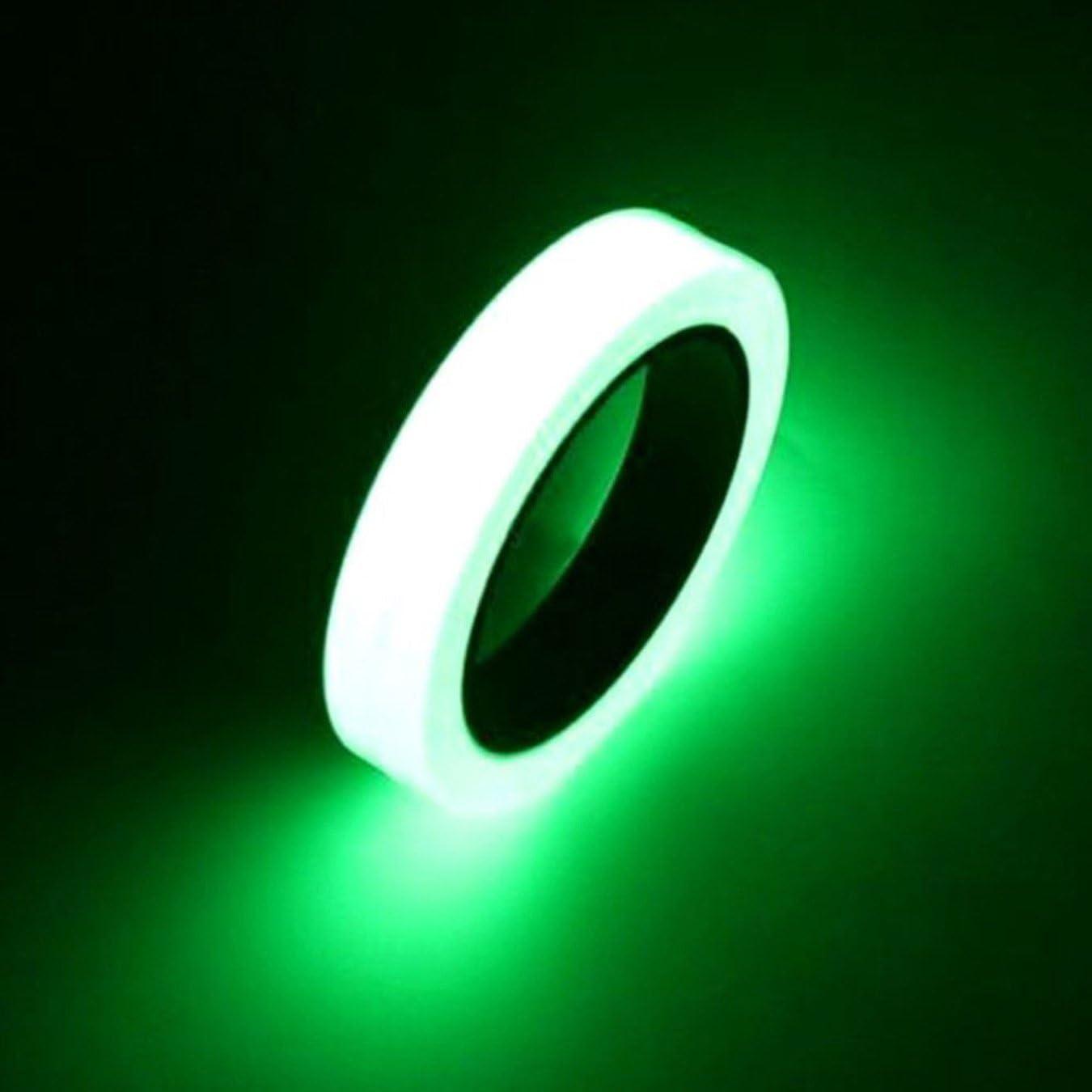 18mm*3m UOOOM Glow in the Dark Luminescentes Tapes Autocollant S/écurit/é Fluorescentes Bandes Phosphorescent Ruban