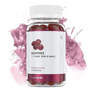 Gominolas De Biotina Para El Crecimiento del Pelo Maxmedix - Para Cabello, Piel y Uñas - Suplemento Vitamínico y Anticaída Con Vitaminas y Zinc - ...