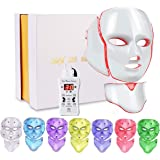 Led Face Light 7 Color Facial Skin Care with Blue & Red Light for Skin Problem for Home SPA Use