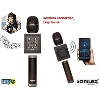 Selling Uniqness Sonilex Bluetooth Portable Handheld Mic with Speaker for Karaoke Singing (Black)