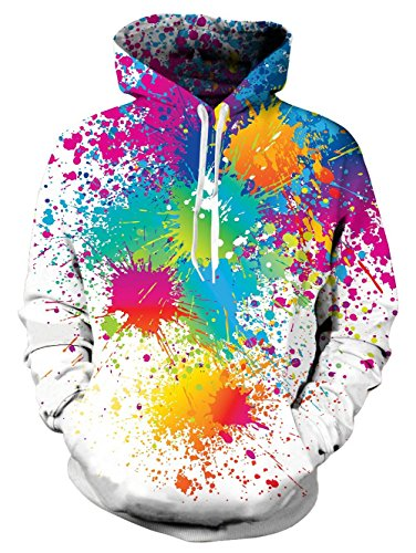 Light Blue Tie Dye - TUONROAD 3D Digital Printing Hoodies Jacket Colorful Paint Tie-dye Graffiti Green Orange Turquoise Light Blue Plus Size Long Sleeve Hip Hop Graphic Hooded Pullover Premium Quality Sweatshirt