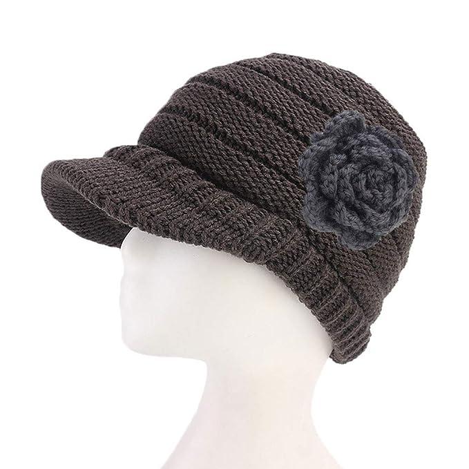 Xurgm Frauen Damen Winter Stricken Krebs Hut Mütze Turban Kopf Wrap