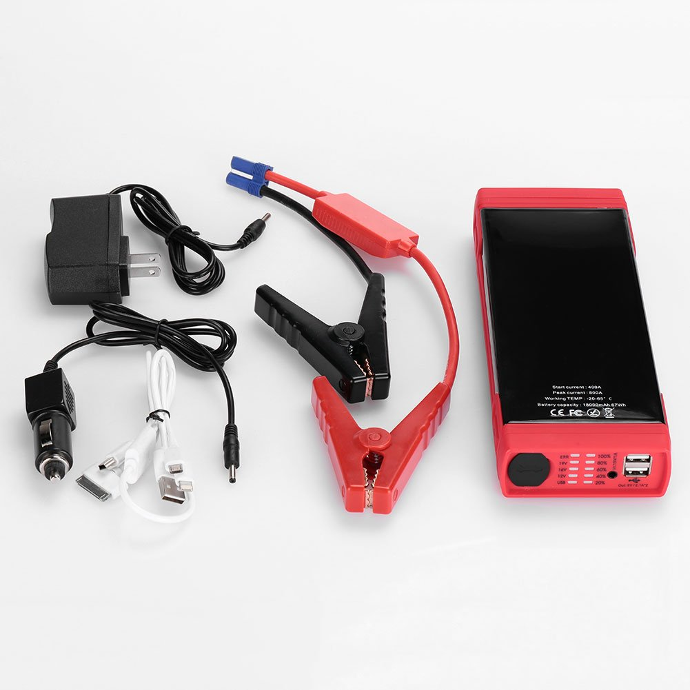 Sedeta 18000mAh Car Jump Starter power bank Battery Booster Pack USB Laptop Power Supply with LED flashlight for outdor emergency camping