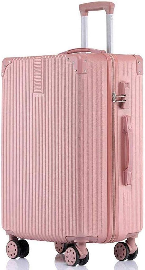 ZLACA Caja de Almacenamiento Maleta de Guardapolvos de la Palanca del Protector - Maleta Hombres y Mujeres Caja de la Carretilla de la Maleta Caster (Color : Pink, Size : 24 Inches)