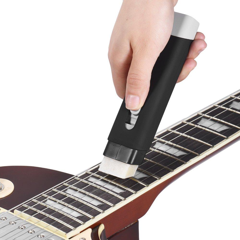 Muslady Cuerdas de Guitarra Herramienta de Limpieza Kit de Mantenimiento de Cadenas de Fieltro Lubricante Herramienta Luthier para Guitarra Eléctrica ...