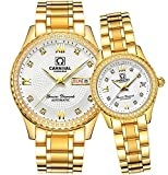 CARNIVAL Couple Watches Men and Women Automatic Mechanical Watch Romantic for Her or His Set of 2