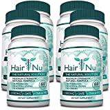 HairNu Dietary Supplement for Hair Growth (6 Bottles)