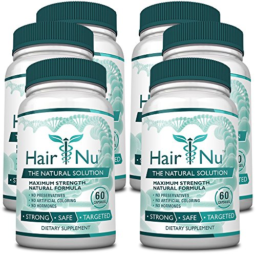 HairNu Dietary Supplement for Hair Growth (6 Bottles) by HairNu