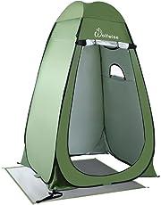 WolfWise Pop up Toilettenzelt Umkleidezelt, Camping Duschzelt Outdoor Umkleidekabine Mobile Toilette mit Abnehmbar Zeltboden und Haube, Wasserfest Tragbar