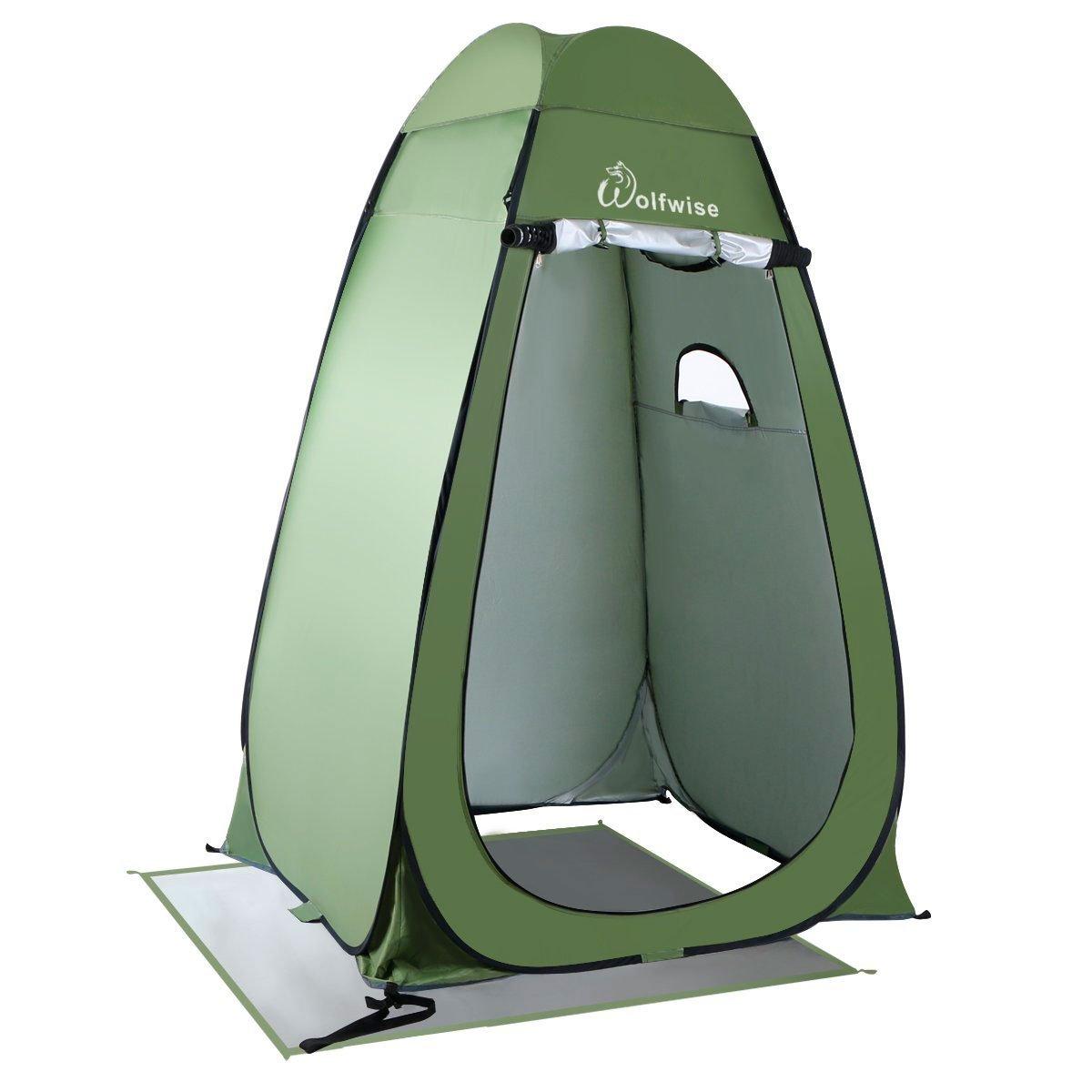 WolfWise Tienda de Campaña Tent Abrir Cerrar Automáticamente Pop Up Portable Sirve Para Camping Playa Bosques Zonas de montaña Ducha Aseo Carpas Vestidor ...
