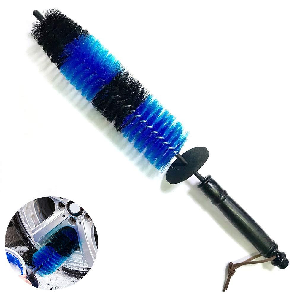 1pc Brosse voiture lavage jantes Brosse pneus D/étail Brosse de nettoyage D/étail roue Brosse pour voiture Bleu