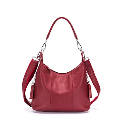 9df5da37b837 Amazon.com: Chibi-store Genuine Leather Women handbag Tassel ...