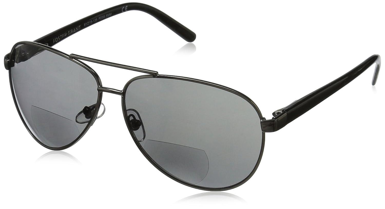 Foster Grant Men's Command 1017553-100.COM Aviator Reading Glasses