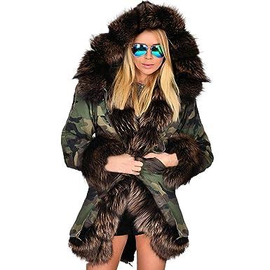 Capuche Camourflage Femmes Parka Frenchenal Épaissir À D'hiver UEInnqf