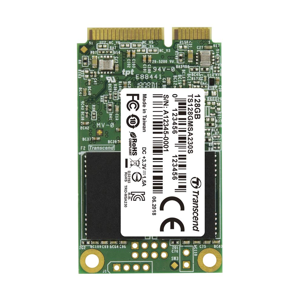 Transcend ts128gmsa230s Interno mSATA III SSD 128 GB (SATA III/6 ...