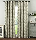 Window Elements Lenox 100% Cotton Grommet  Extra Wide 104'' x 96'' Curtain Panel Pair, Taupe