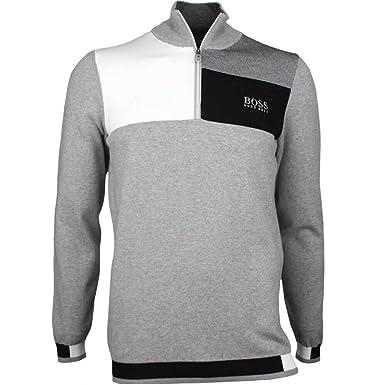 76714f99a97c Hugo Boss Golf Jumper - Zelchior Pro - Grey Melange PS18-L  Amazon.co.uk   Clothing
