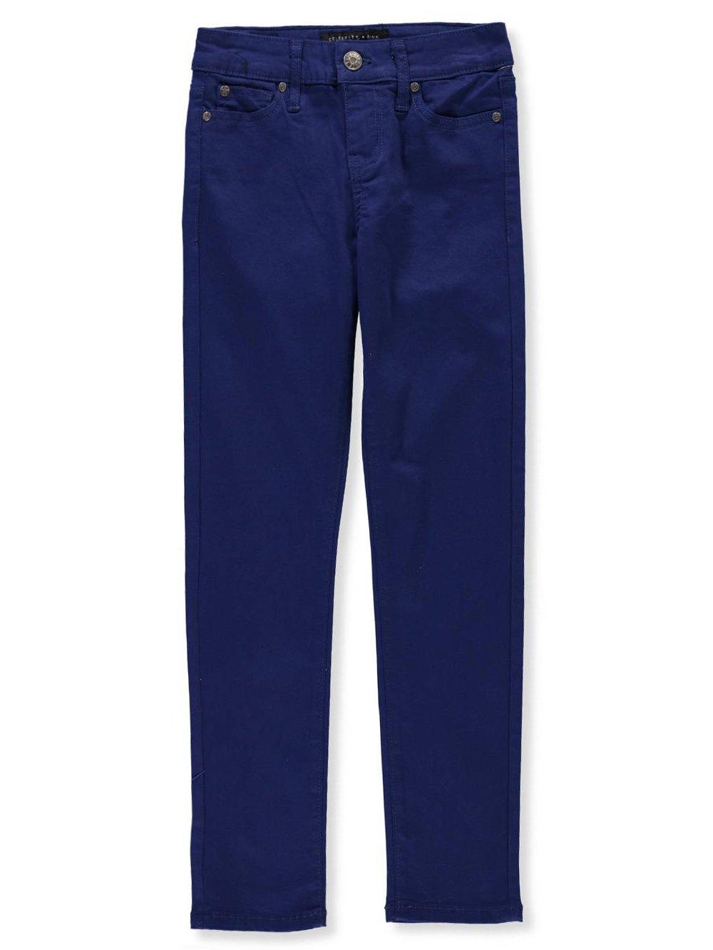 Celebrity Pink Big Girls' Stretch Twill Jeans - Navy, 10