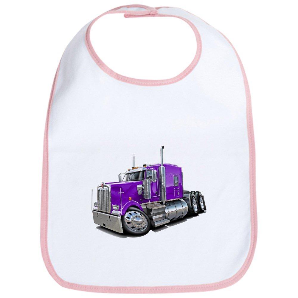 CafePress - Kenworth W900 Purple Truck Bib - Cute Cloth Baby Bib, Toddler Bib