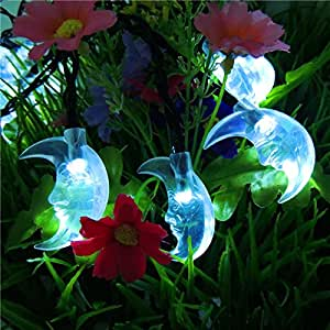 Solar-powered string lights 20LED decorative Lantern outdoor waterproof Christmas garden lights,Blue