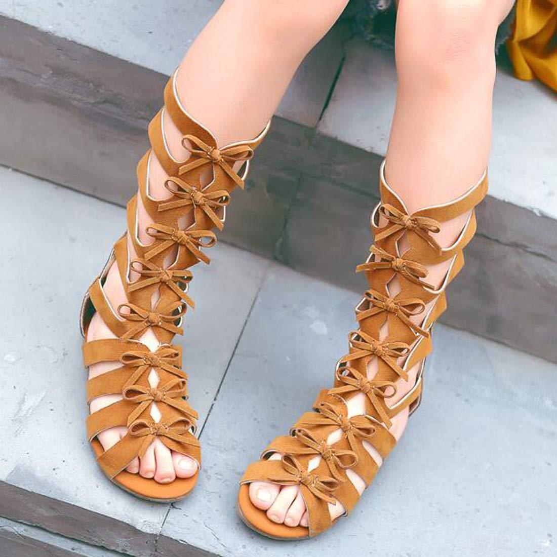 Yiwu Pengcai Girls Knee High Gladiator Sandals