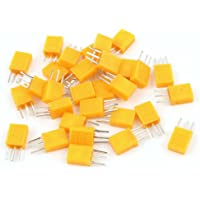 Aexit 20 Pcs Passive Components Low Profile 18.432MHZ Frequency DIP Crystal Resonators Oscillators HC-49S