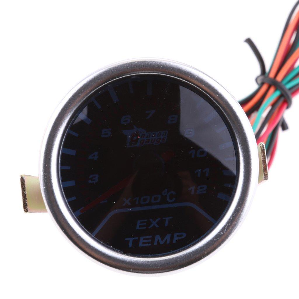 MagiDeal 2' 52 mm EGT Pyro Gauge 0-900 C Exhaust Gas Temperature Gauge Pyrometer