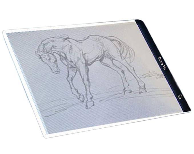Tableros de Dibujo, A4 LED Mesa de Luz Dibujo, fina para diseño Art Display Tablero del panel de copia Cable Pad un USB Light: Amazon.es: Hogar