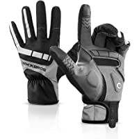 ROCK BROS Bike Gloves Men Full Finger Cycling Gloves Autume-Winter Mountain Bike Gloves Cold Weather Thermal Windproof…