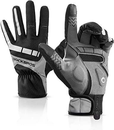 Details about  /ROCKBROS Winter Touch Screen Cycling Gloves Gel Pad Shockproof Full Finger show original title