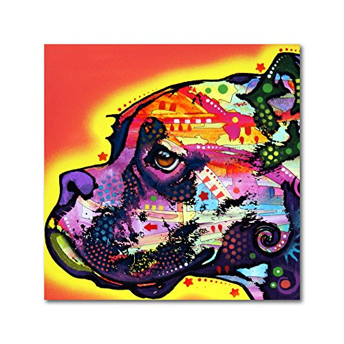 Profile Boxer by Dean Russo, Metal Art 16x16-Inch