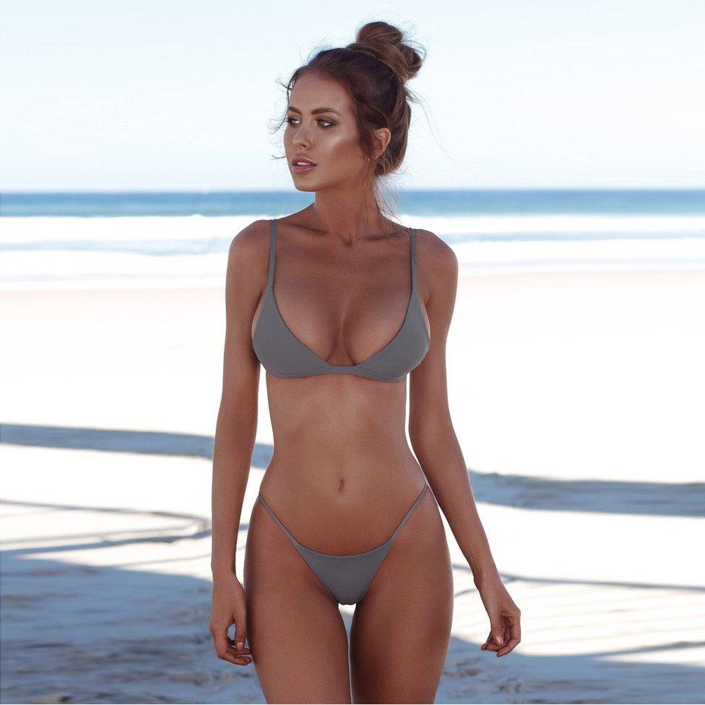 Braguitas Tangas Parte Inferior Traje de ba/ño Mujer Alta Elasticidad Color S/ólido Talla Grande Colores Varias Bikini Vendaje
