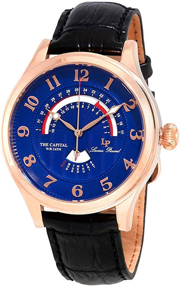 Lucien Piccard The Capital Retrograde Men's Watch LP-40050-RG-03