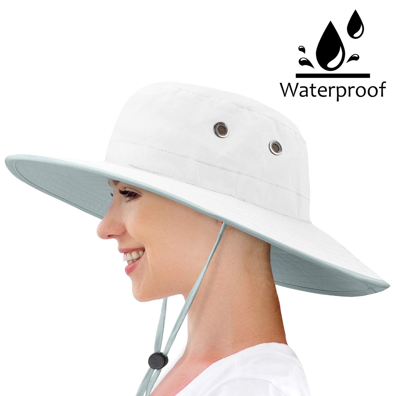 Waterproof Sun Hat Outdoor Wide Brim Bucket Boonie Cap for Safari Hiking Fishing