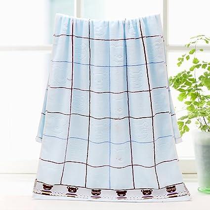100% algodón toalla de baño Jacquard oso rejilla Impresión Diseño de rayas suave de grosor