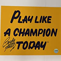 $54 » Autographed/Signed Rudy Ruettiger Play Like A Champion Today Notre Dame Irish 8x10 College Football Photo Athlete Hologram COA