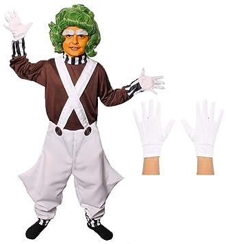 Oompa Loompa Dungarees Medium Boys Fun Shack FNK2984M Costume