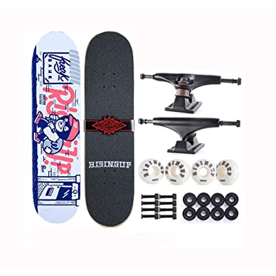 XUEYING-KickScooter Skateboard Professional Beginner Adult Boys and Girls Double Warp (Color : C): Home & Kitchen