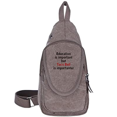 3904e2d7caaa ... Canvas Chest Bags. cheap Education Is Important But Taco Bell Is  Importanter Fashion Men s Bosom Bag Cross Body New