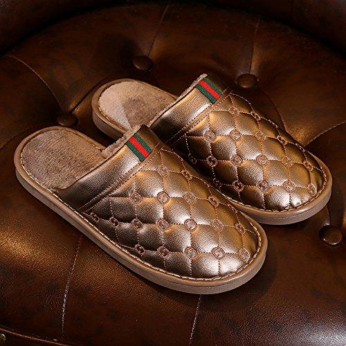 Caldo adatto A Laxba 42 45 Peluche Indossano Per Scarpe Casa Casa Brown44 Antiscivolo M Di Di Solito 3 Pantofole A Pantofole Inverno L'inverno Pistoni 39 IPIrnqEZ